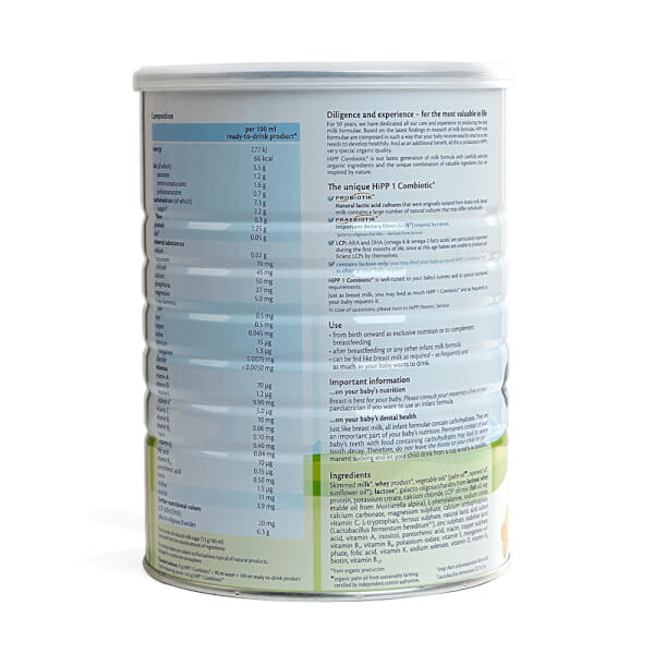 Combo 2 lon Sữa Hipp 1 Combiotic Organic Infant 800g (0-6 tháng)