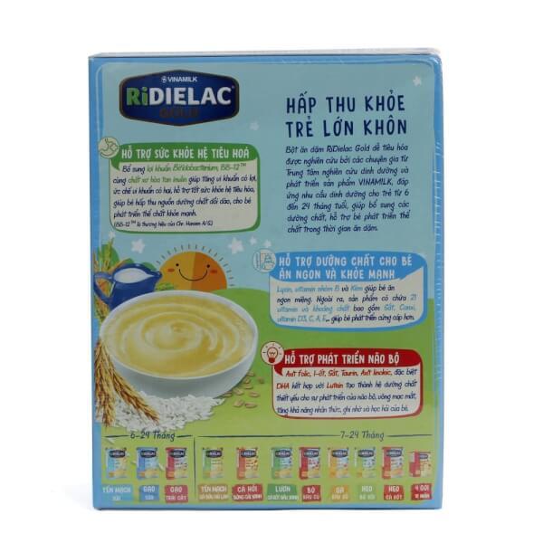 Bột ăn dặm Ridielac Gold 3 Vị Ngọt HG 200g