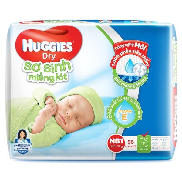 Miếng lót Huggies size Newborn 1 56 miếng (dưới 5kg)