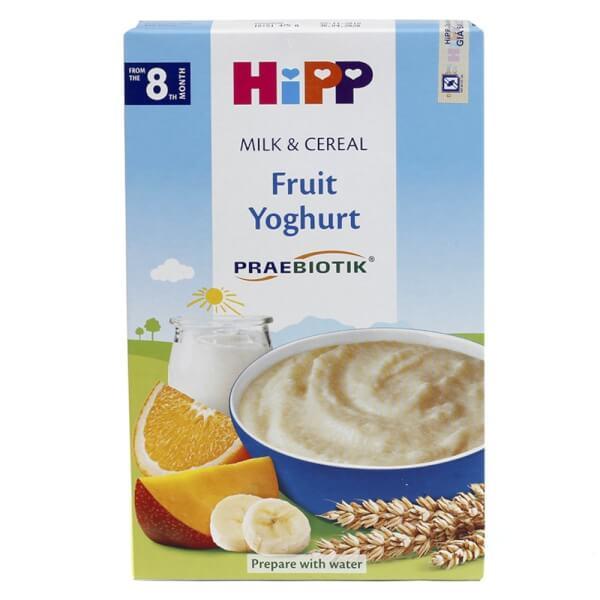 Bột sữa dinh dưỡng HiPP bổ sung Praebiotik - Hoa quả nhiệt đới, sữa chua 250g