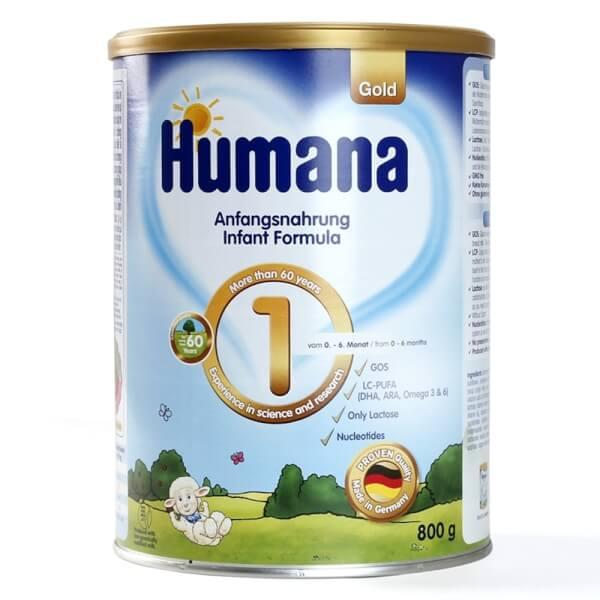 Sữa Humana Gold số 1 800g (0-6 tháng)