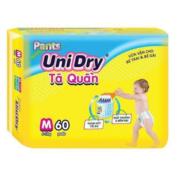 Tã quần Unidry Super Jumbo (M, 6-11 Kg, 60 miếng)