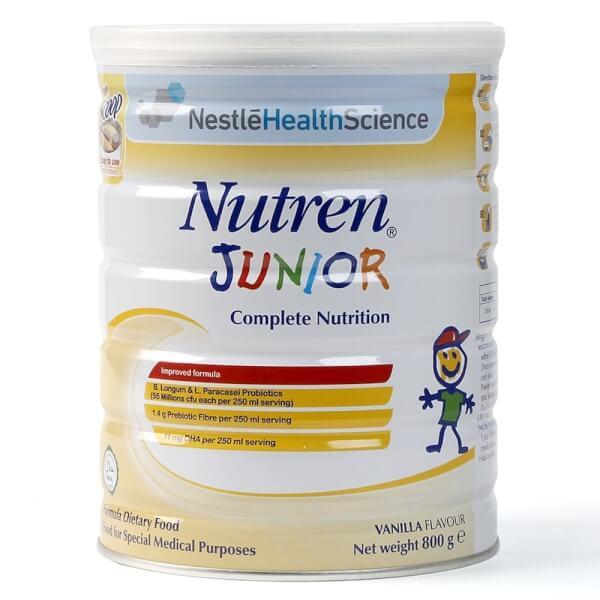 Thực phẩm dinh dưỡng y học Nutren JUNIOR 800g (1-10 tuổi)
