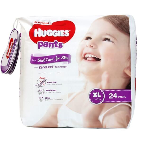 Bỉm tã quần siêu cao cấp Huggies Platinum size XL 24 miếng (12-18kg)