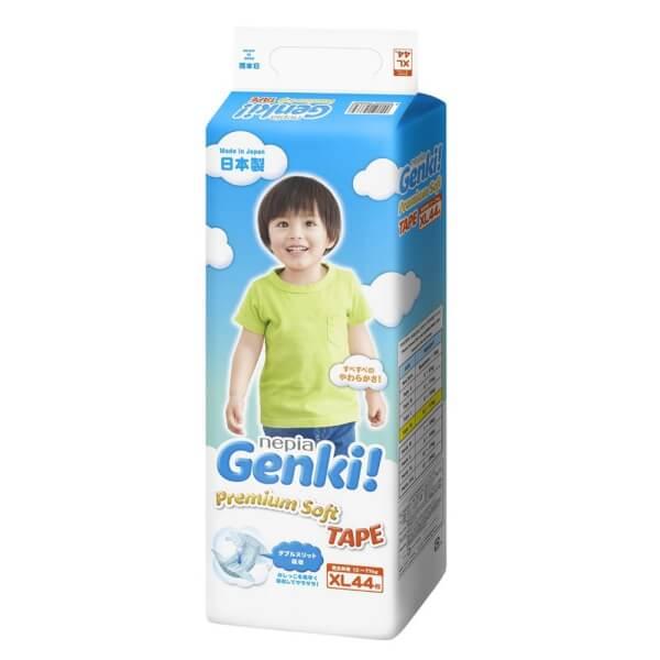 Bỉm tã dán Genki size XL 44 miếng (12-17kg)