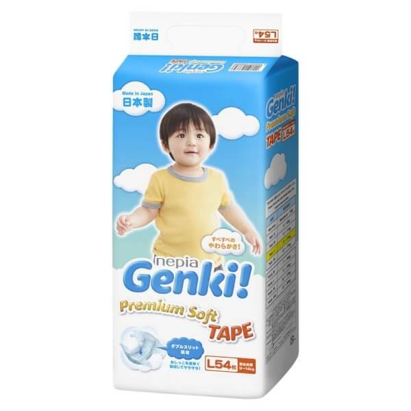 Bỉm tã dán Genki size L 54 miếng (9-14kg)