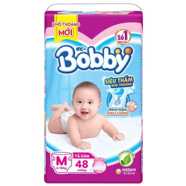 Tã dán Bobby Fresh siêu mỏng M, 6-10kg, 48 miếng