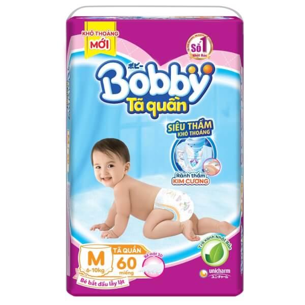 Tã quần Bobby Fresh M, 6-10kg, 60 miếng