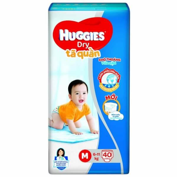 Tã quần Huggies Dry Pants M, 6-11kg, 40 miếng