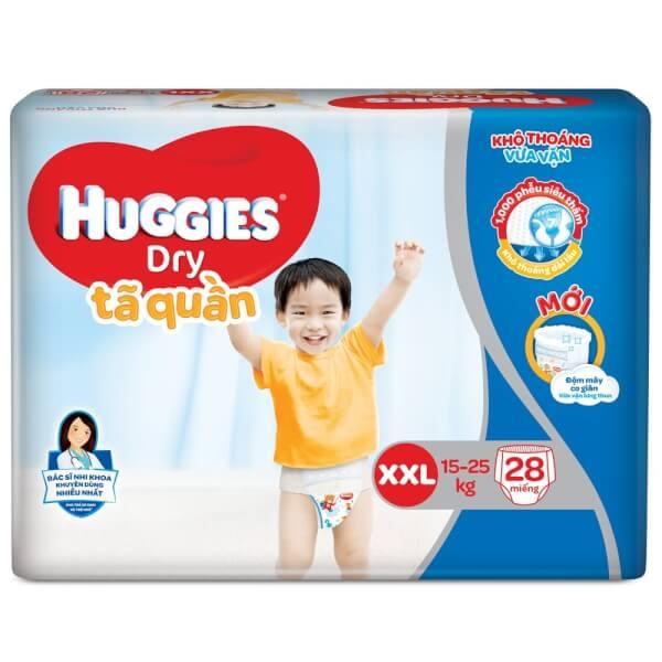 Tã quần Huggies Dry Pants XXL, 15- 25kg, 28 miếng