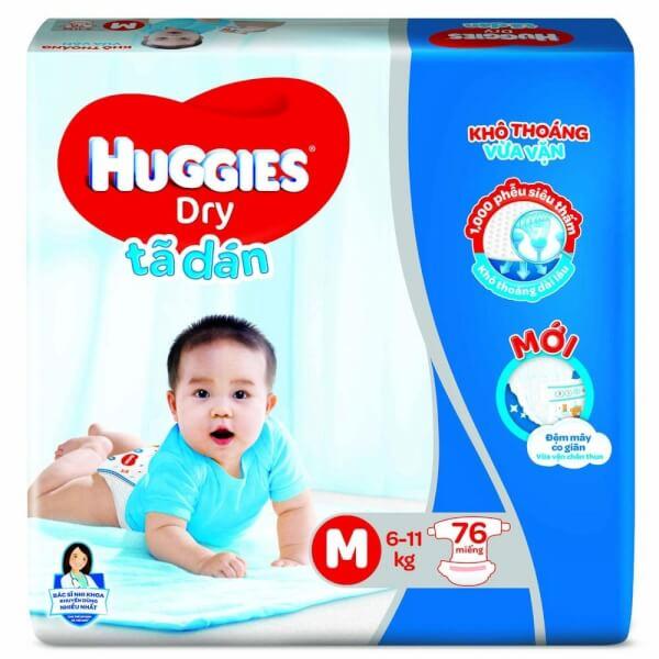 Tã dán Huggies Dry Super Jumbo (M, 6-11kg, 76 miếng)