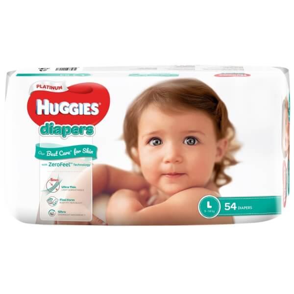 Bỉm tã dán Huggies Platinum size L 54 miếng (9-14kg)