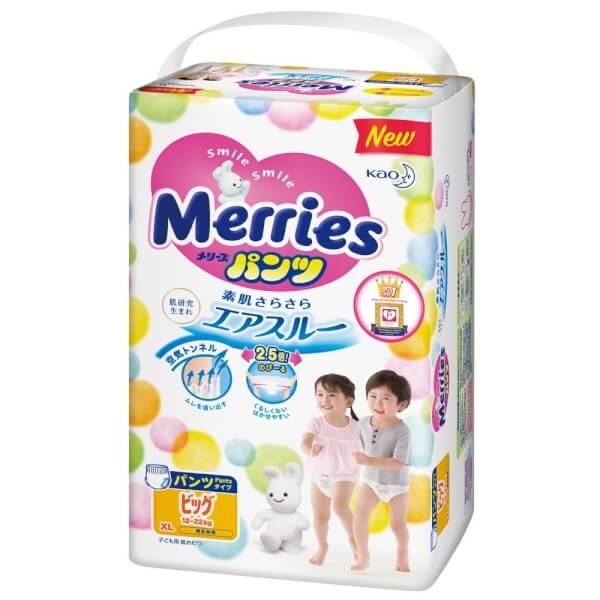 Bỉm tã quần Merries size XL 38 miếng (12-22kg)