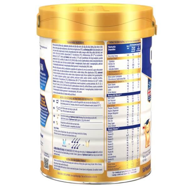 Sữa Vinamilk Optimum Gold 4 900g (2-6 tuổi)
