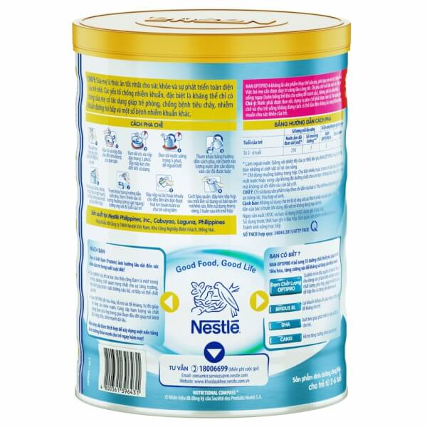 Sữa Nan Optipro 4 900g (2-6 tuổi)
