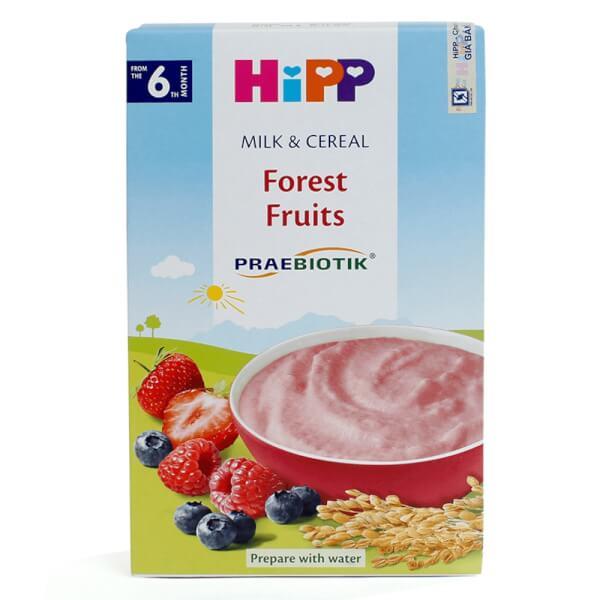 Bột sữa dinh dưỡng HiPP Organic bổ sung Praebiotik - Hoa quả rừng 250g