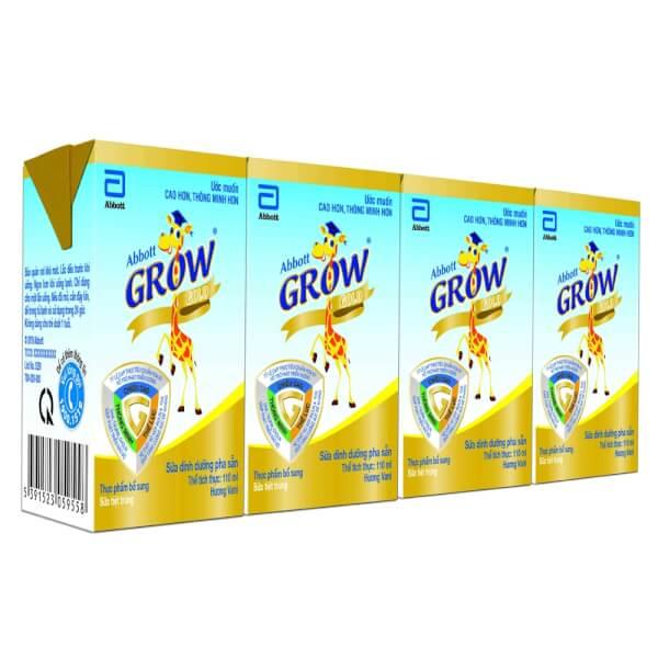 Abbott Grow Gold hương vani 110ML - Lốc 4 hộp