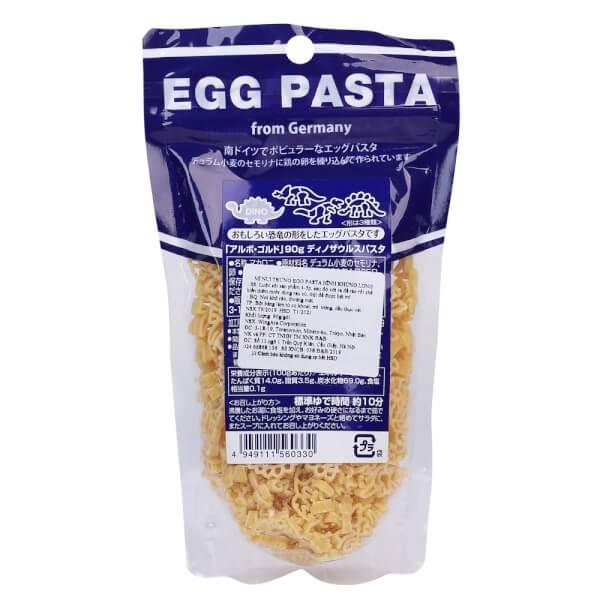 Mì nui trứng Egg Pasta hình khủng long 90g