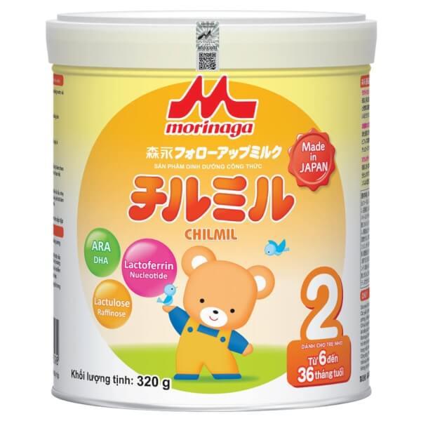 Sữa Morinaga số 2 320g (Chilmil, 6-36 tháng)