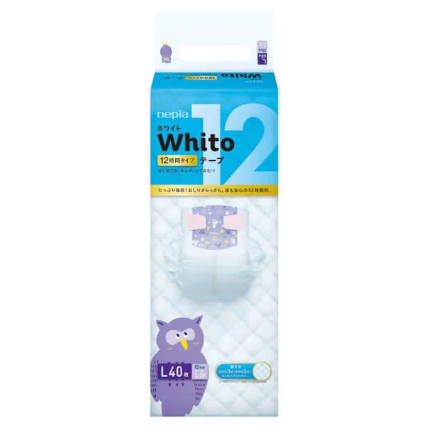 Bỉm tã dán Whito size L 40 miếng (9-14kg)