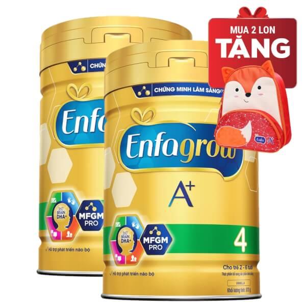 Combo 2 lon Sữa Enfagrow A+ 4 870g (2-6 tuổi)