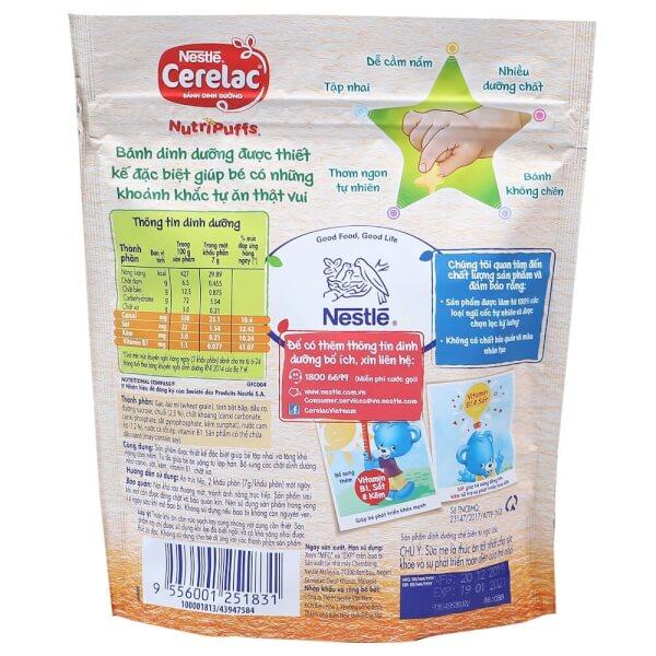 Bánh dinh dưỡng Nestle Cerelac Nutripuffs Vị Chuối và Cam 50