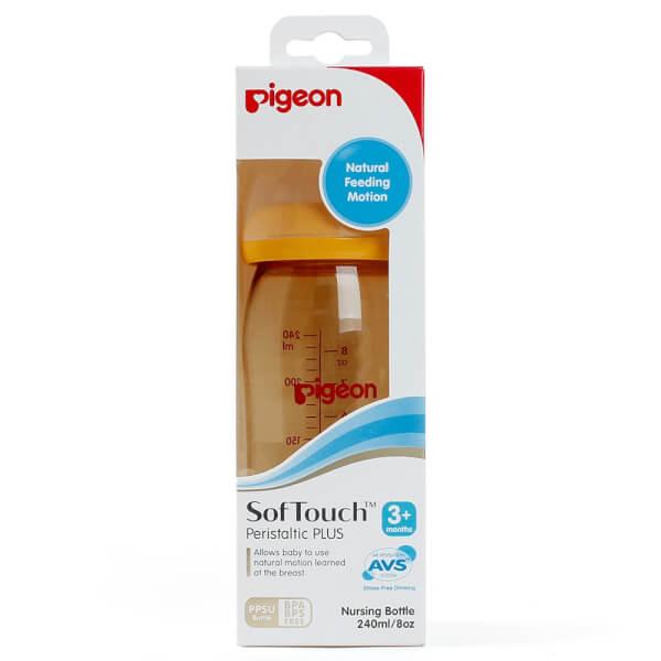 Bình sữa Pigeon nhựa PPSU cổ rộng 240ml