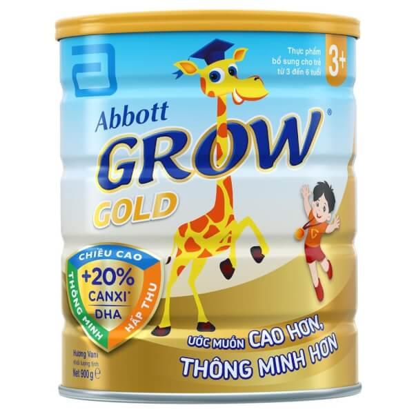 Sữa Abbott Grow Gold 3+ 900g hương Vani (3-6 tuổi)