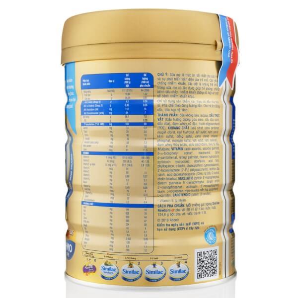 Sữa bột Similac Newborn IQ (HMO) 900g (0-6 tháng)