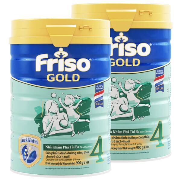 Combo 2 lon Sữa Friso Gold số 4 900g (2-4 tuổi)