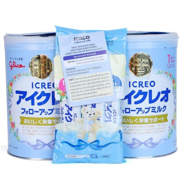 Sữa Glico Icreo số 1 820g – Combo 2 lon (9-36 tháng)