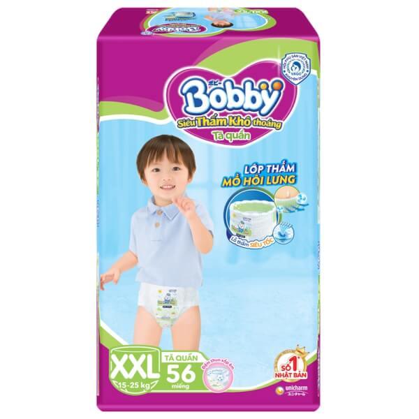 Bỉm tã quần Bobby size XXL 56 miếng (trên 16kg)