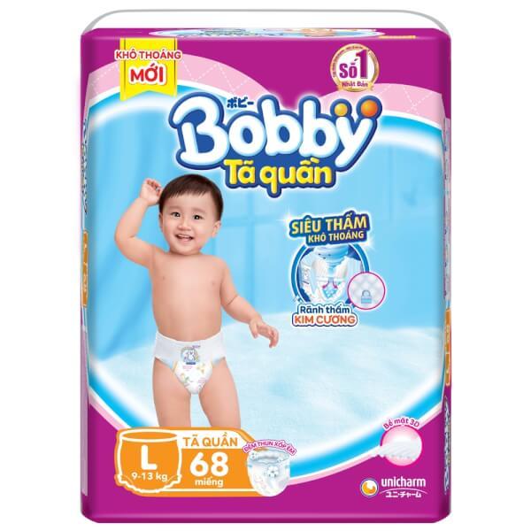 Bỉm tã quần Bobby size L 68 miếng (9-13kg)