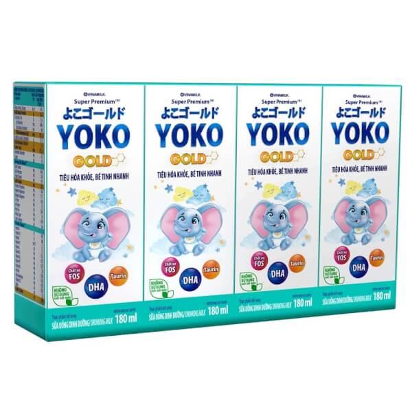 Thùng Sữa uống dinh dưỡng Vinamilk Yoko Gold 180ml (Lốc 4) - 12 lốc