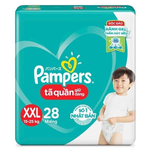 Combo 5 Bỉm tã quần Pampers giữ dáng size XXL, 28 miếng (15-25kg)