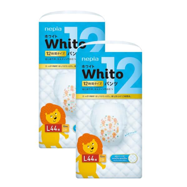 Combo 2 gói Bỉm tã quần Whito size L 44 miếng (9-14kg)
