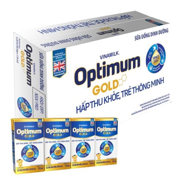 Sữa uống dinh dưỡng Optimum Gold 110ml (Lốc 4 hộp)