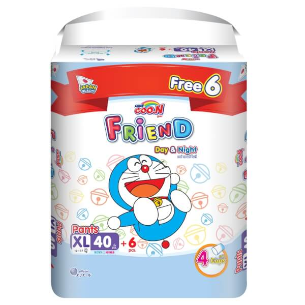 Tã quần Goon Friend Renew Super Jumbo (XL, 40 miếng) + 6 miếng