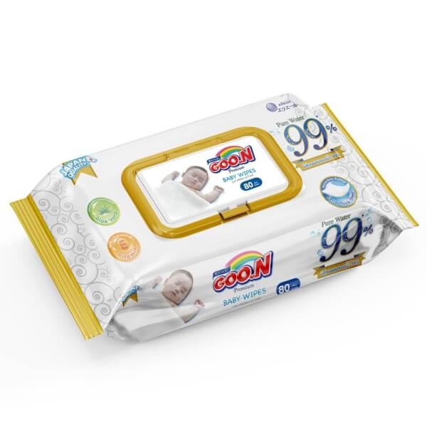 Combo 3 gói Bỉm tã dán Goon Premium size L 50 miếng (9-14kg)