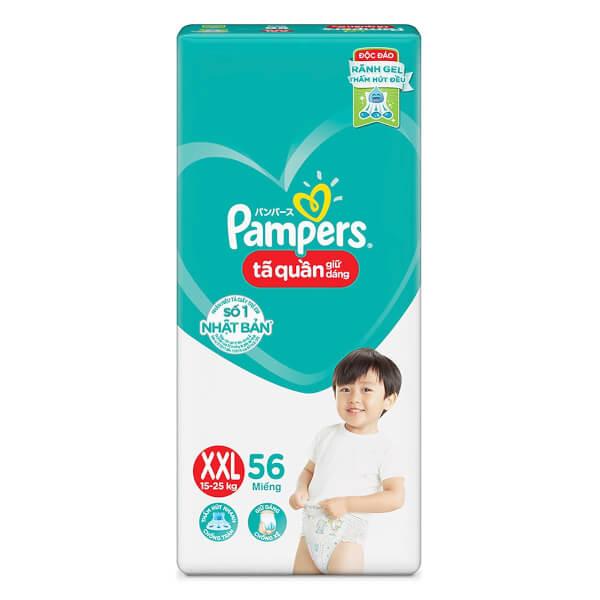 Bỉm tã quần Pampers giữ dáng Super Jumbo size XXL, 56 miếng (15-25kg)