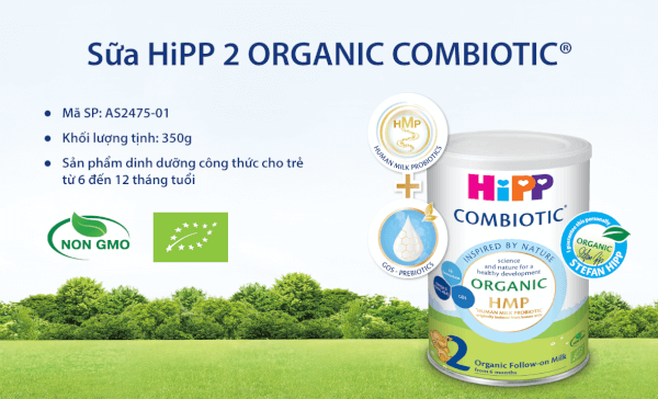Sữa Hipp 2 Combiotic Organic Follow-on 350g (6-12 tháng)