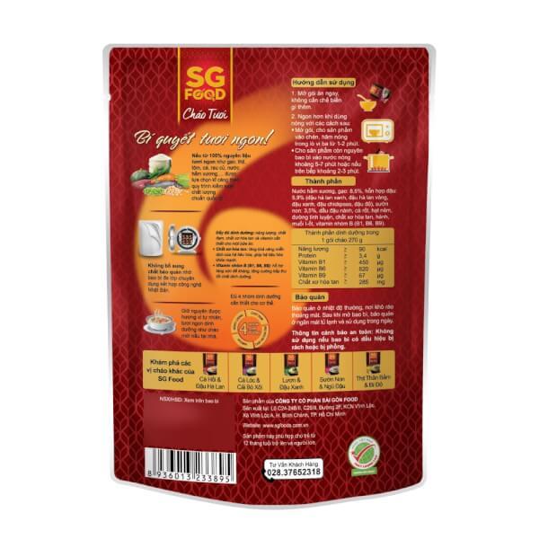 Cháo Sườn non, ngũ đậu, SG Food, 270g