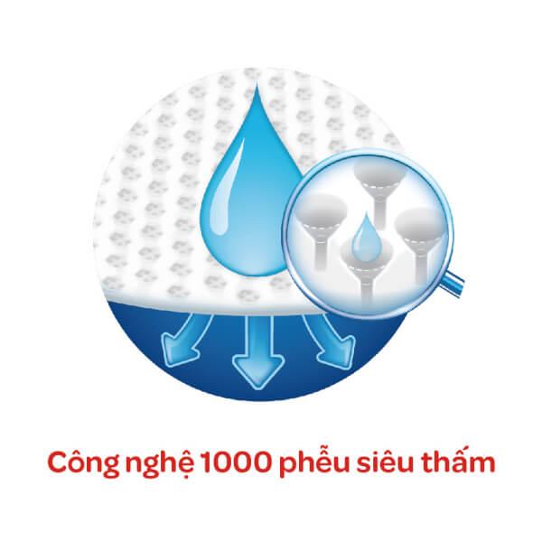 Bỉm tã dán Huggies Dry size M 48 miếng (6-11kg)