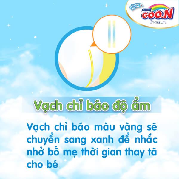Bỉm tã dán Goon Premium size M 60 miếng (7-12kg)