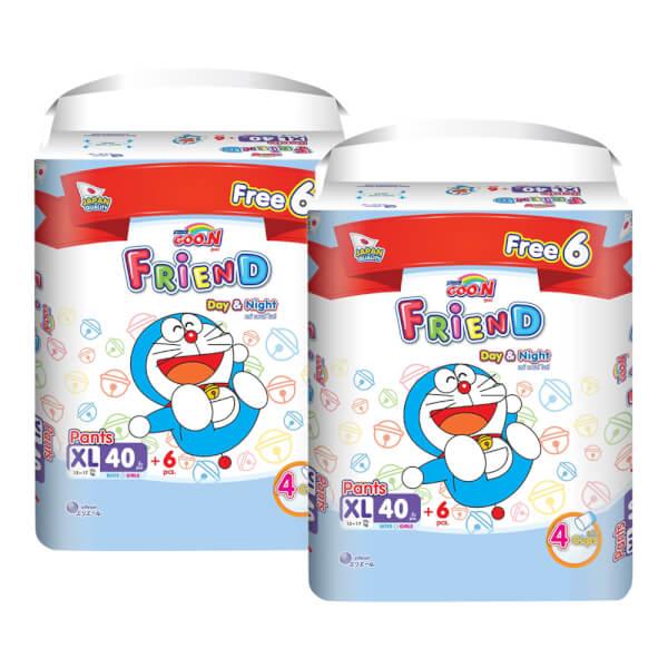 Combo 2 gói Tã quần Goon Friend Renew Super Jumbo (XL, 40 miếng) + 6 miếng