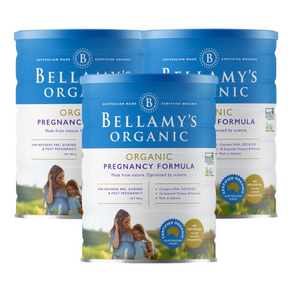 Combo 3 lon Bellamy's Organic Pregnancy Formula, 900g
