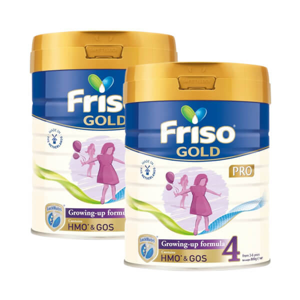 Combo 2 lon sữa Friso Gold Pro số 4, 800g (trên 3 tuổi)