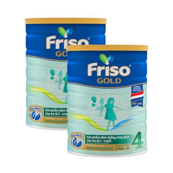 Combo 2 lon Friso Gold 4, 2 – 6 tuổi (1400gr)