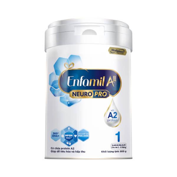 Sữa Enfamil A2 NeuroPro số 1 800g (Infant Formula, 0 – 6 tháng)