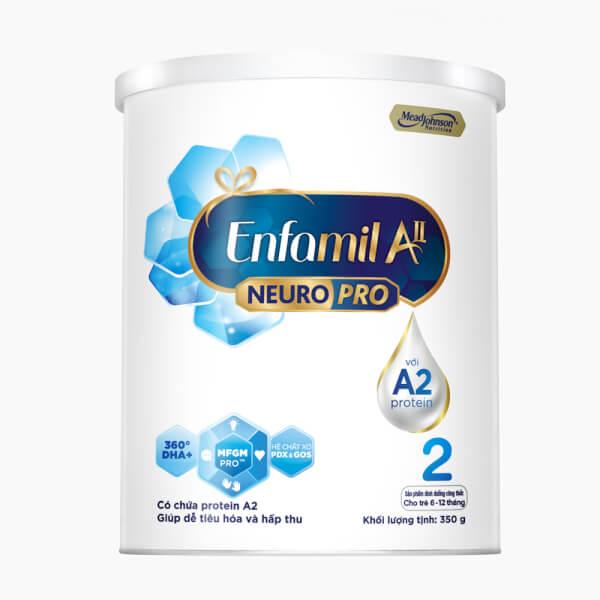Sữa Enfamil A2 NeuroPro số 2 350g (Follow Up Formula, 6 – 12 tháng tuổi)